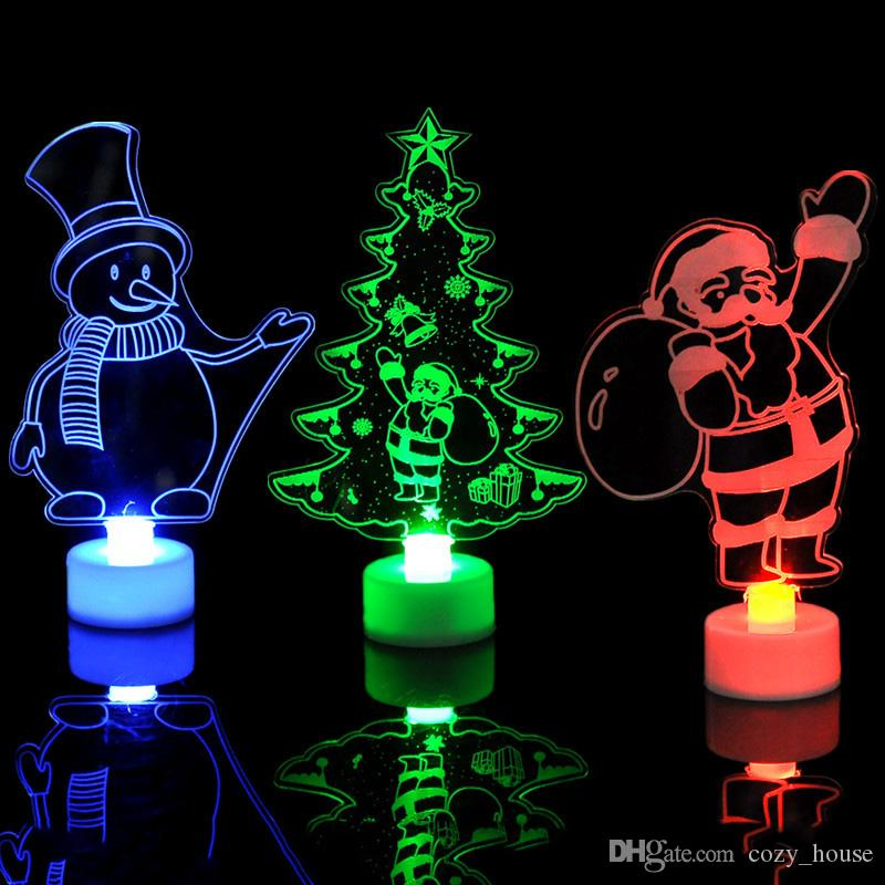 Christmas Led Lights 3d Santa Claus Christmas Tree Snowman Lighting