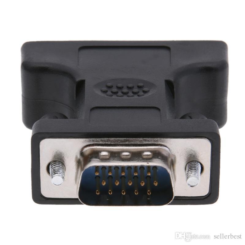 Alloyseed 24 + 5Pin DVI Kadın 15Pin VGA Erkek Kablo Genişletici Adaptörü Bağlayıcı HDTV CRT Monitör Bağlamak için Uygun