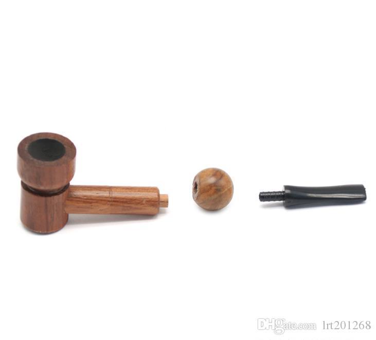Tubulação de madeira maciça de madeira Handmade do comprimento 95MM da tubulação