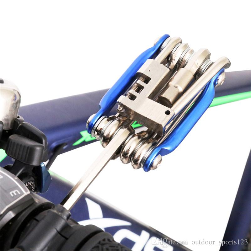 Portable Steel Multifunction Bicycle Tool Maintenance Ferramenta Bike Repair Tool Wrench 11 In 1 Pro Road MTB Cycling Bike Tools