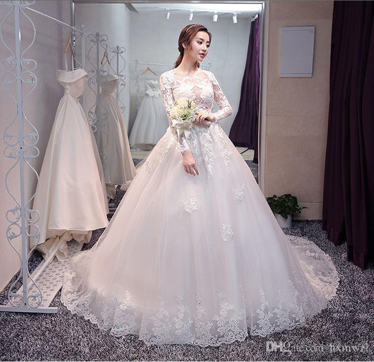 2018 Latest Fantasy Lace Wedding Dress Makes You The Most Beautiful ...