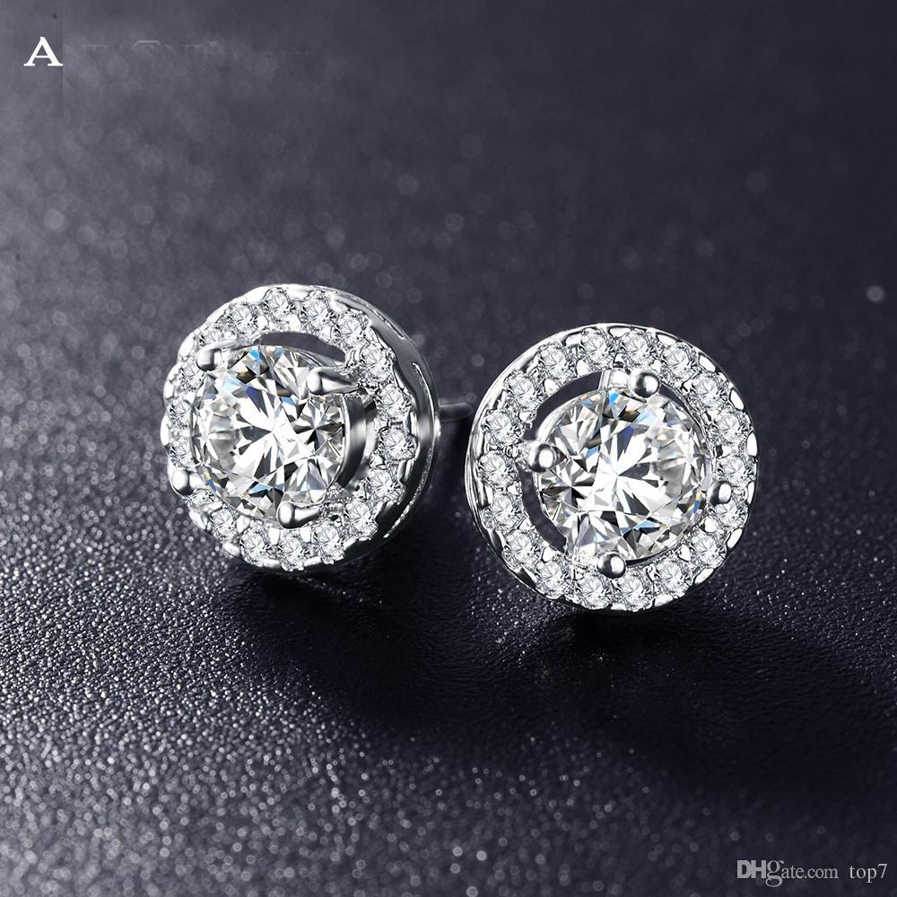 cf7c846d0 Romantic Jewelry 2018 Stud Earrings For Wedding Elegant Silver Color ...