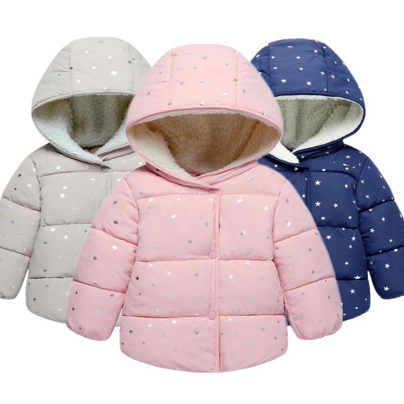 dc48ed25f Baby Girls Coat   Jacket Children Outerwear Winter Hooded Coats ...