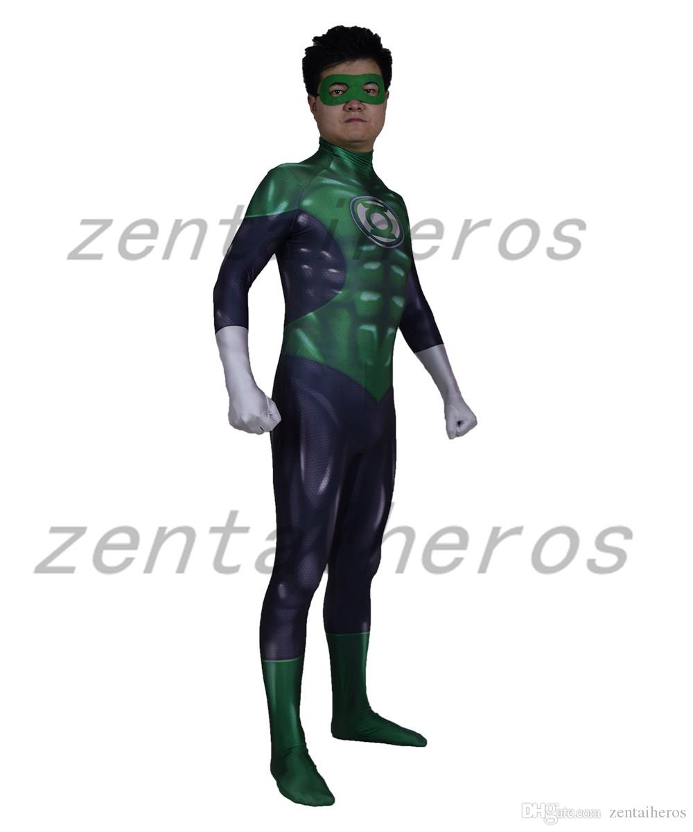 Cosplay Moive Green Lantern Superhero Spandex Lycra Zentai Bodysuit Halloween Party suit111