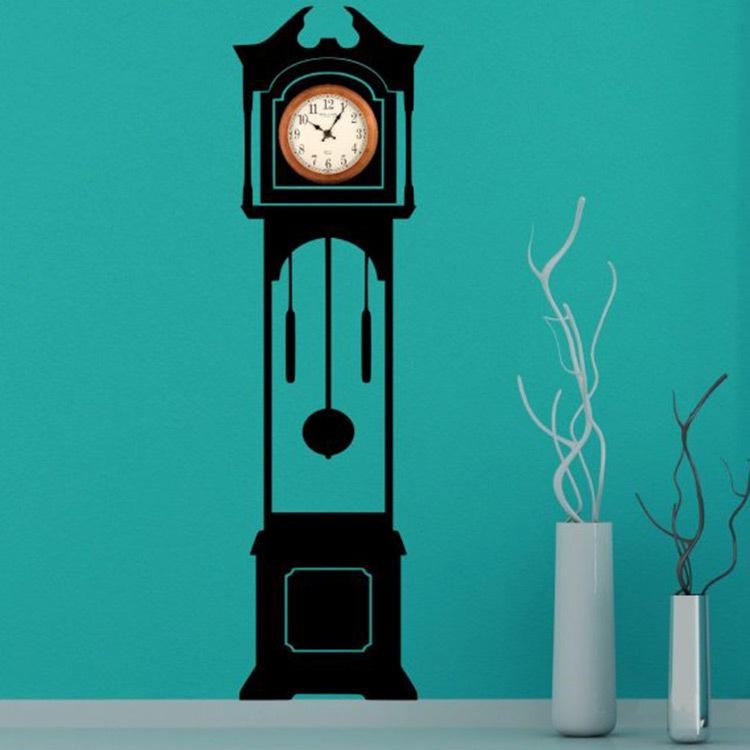 new grandfather clock silhouette wall decal clock background vinyl