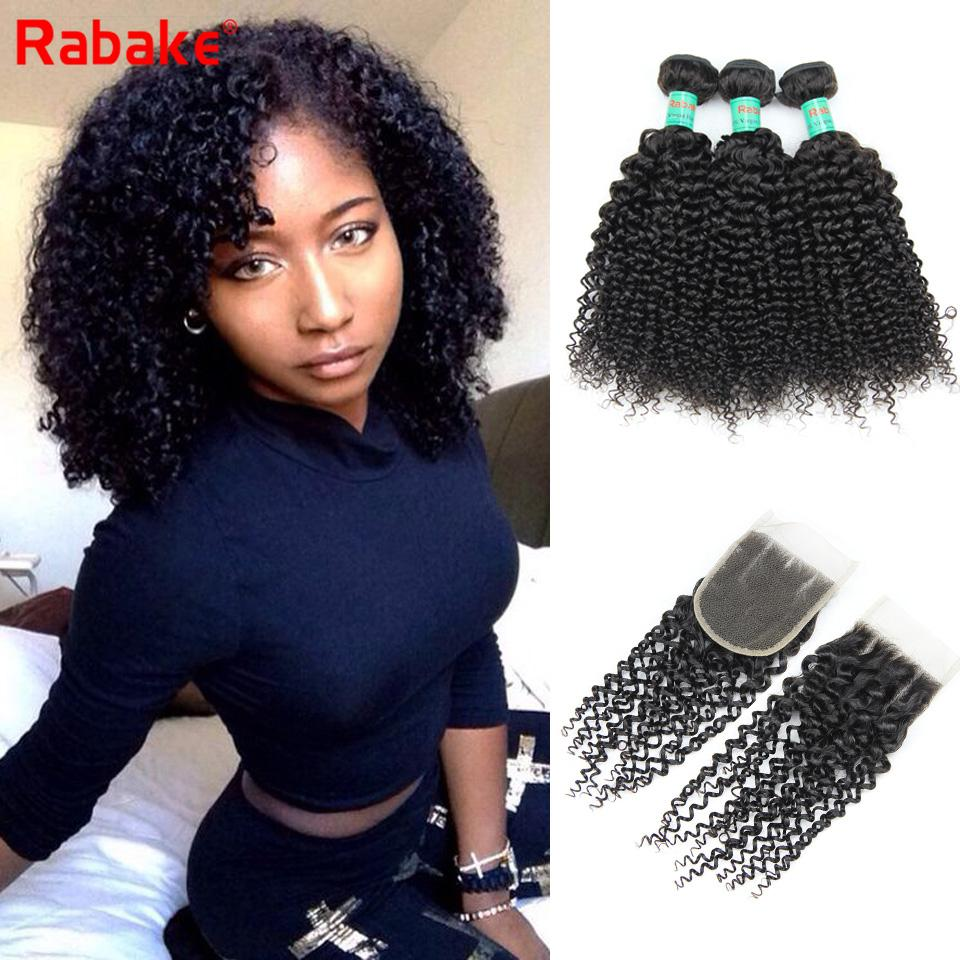 Kinky Curly Human Hair 3 Bundles With 4x4 Top Lace Closure 100 Unprocessed  Brazilian Virgin Human Hair Bundles With Closure For Black Women Brazilian  Kinky ... c8448d0dd7