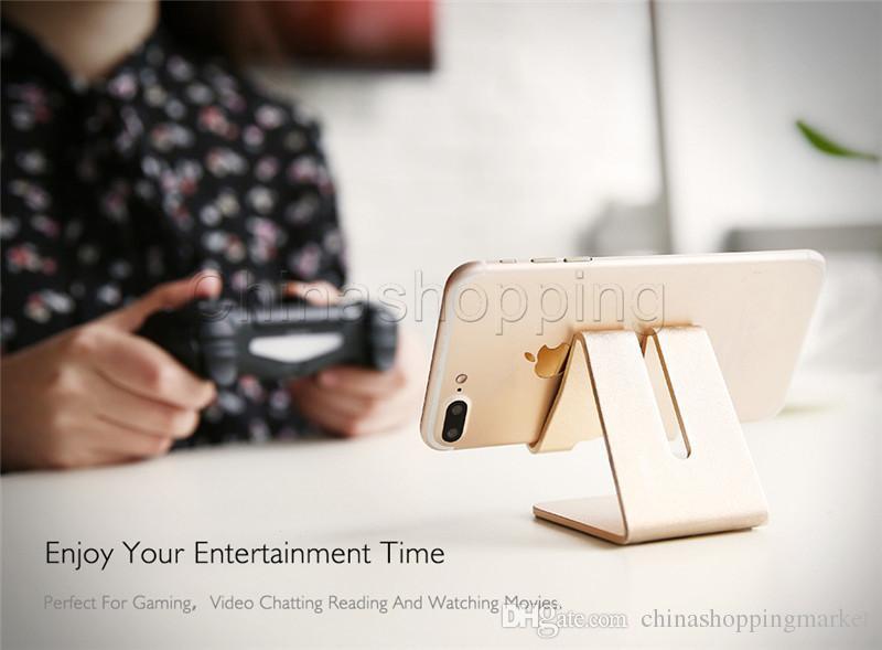 Teléfono móvil Tableta Soporte de escritorio Soporte de metal de aluminio para iPhone iPad Mini Samsung Smartphone Tabletas Laptop