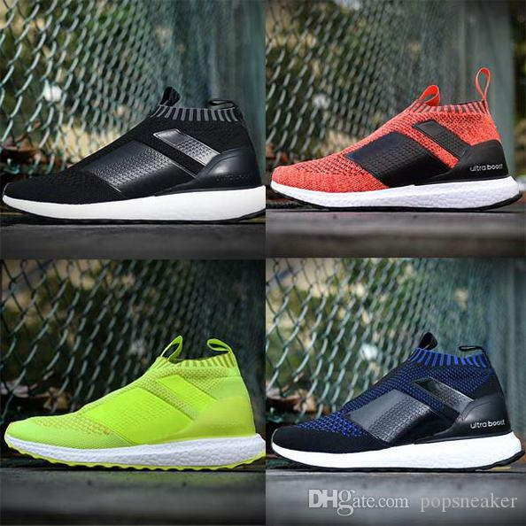 new styles caea9 b596a New Ace 16 Boots PureControl Ultra Boost Men Shoes Black White Solar Yellow  Fashion Primeknit Casual Shoes 36-45 Cheap Sale