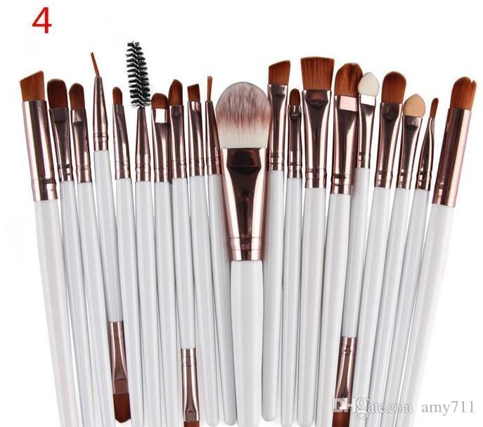 Pinceaux de maquillage Professional SET FACE COSMETIQUES PHOTHADOW BRIGNES TOUTS KIT DE MAISON DE MAILLE DE MAILLEUR