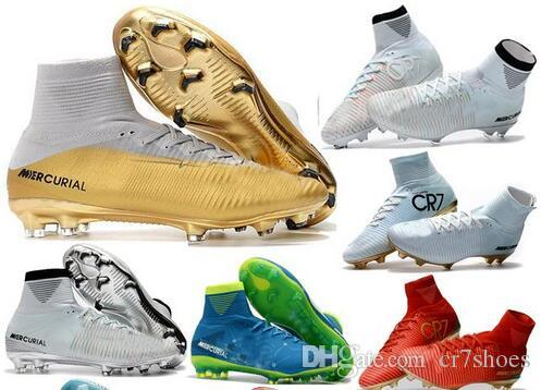 59e6a505cf7 2019 Top Quality Kids Mercurial Superfly FG CR7 Vitórias Magista Obra  Soccer Shoes Ronaldo Cleats Forged For Greatness Footbal Shoes Boots From  Cr7shoes