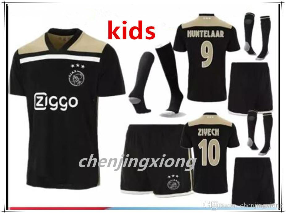 907d6e703 Ajax Kids Blacker Soccer Jersey 18 19 Ajax FC Soccer Jerseys Away Shirt  2018 Customized  10 KLAASSEN  34 NOURI Football Uniform Suit Socks UK 2019  From ...