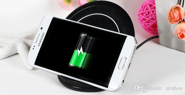 QI Cargadores inalámbricos rápidos para iPhone X 8 Plus Samsung Note 8 S8 Plus S7 Edge de alta calidad con paquete minorista DHL gratuito