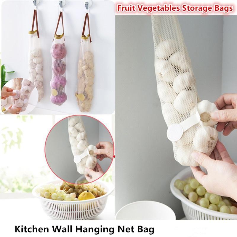 Compre Creativa Cocina Wall Hanging Net Bag Frutas Verduras Bolsas ...