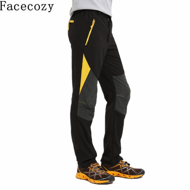 e6b348811db3 Facecozy Men Summer Outdoor Quick Dry Pants Patchwork Hiking Camping Trousers  Breathable Elastic Trekking Fast Dry Sportwear C18111401 UK 2019 From  Shen8402 ...
