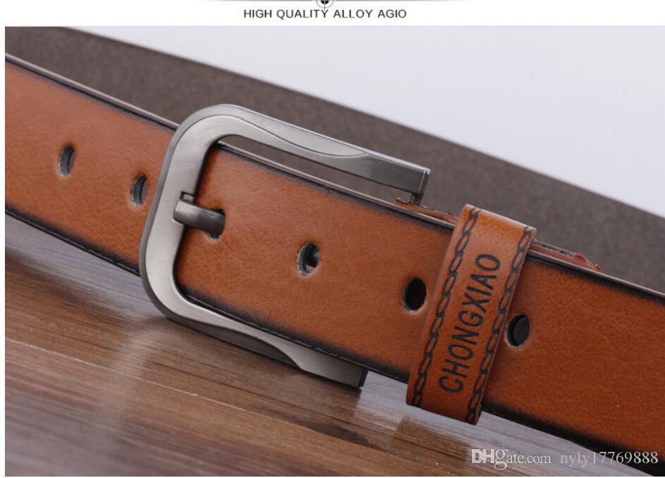 La nuova cintura da uomo casual cintura moda uomo 2017 nuova moda il tempo libero marrone C3