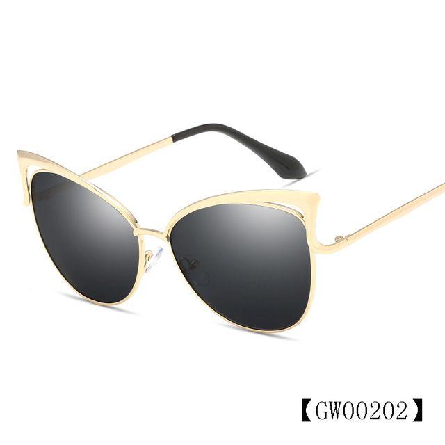89da8115d8f9 HINDFIELD Fashion Cat Eye Sunglasses Women Ladies Fanous Luxury ...