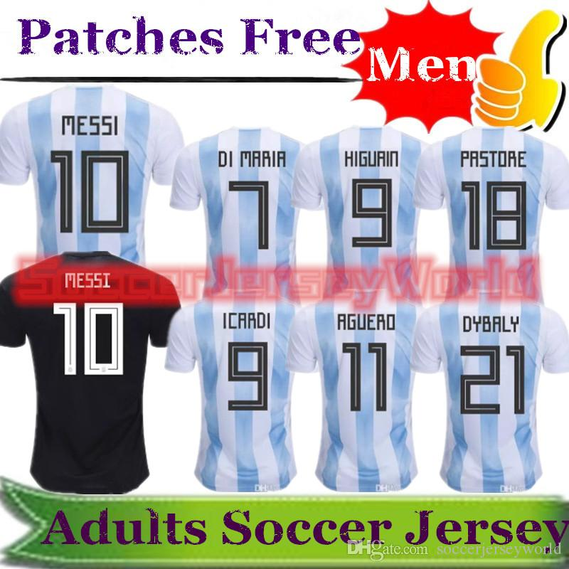 3e9a9fb67 2018 World Cup Argentina Home Away Soccer Jersey Messi Mascherano ...