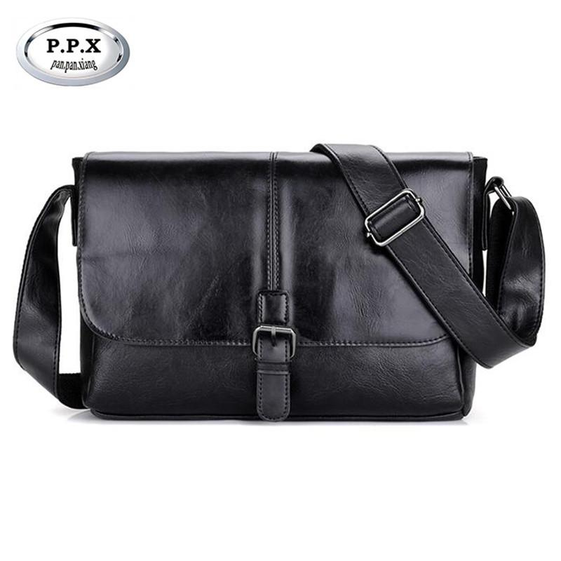 ad77a360d99e P.P.X Luxury Leather Men s Shoulder Bag Casual Small Flap Male ...