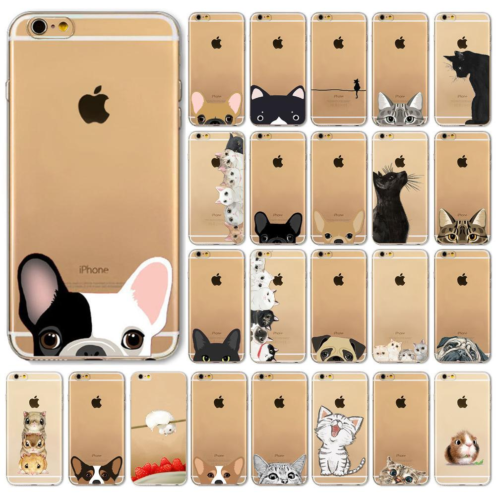 outlet store 6848e b6766 Newest Super Cute Phone Cases For iPhone 6 6s Case Fashion Luxury Ultra  Thin Funny Hamster Cat Dog Back Cover for Apple iPhone