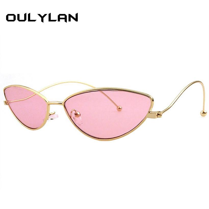 Compre Oulylan 2018 Bonito Sexy Cat Eye Óculos De Sol Das Mulheres Dos  Homens De Metal Frame Retro Pequeno Cateye 90 S Óculos De Sol Marca  Designer Goggle ... 5975721d57