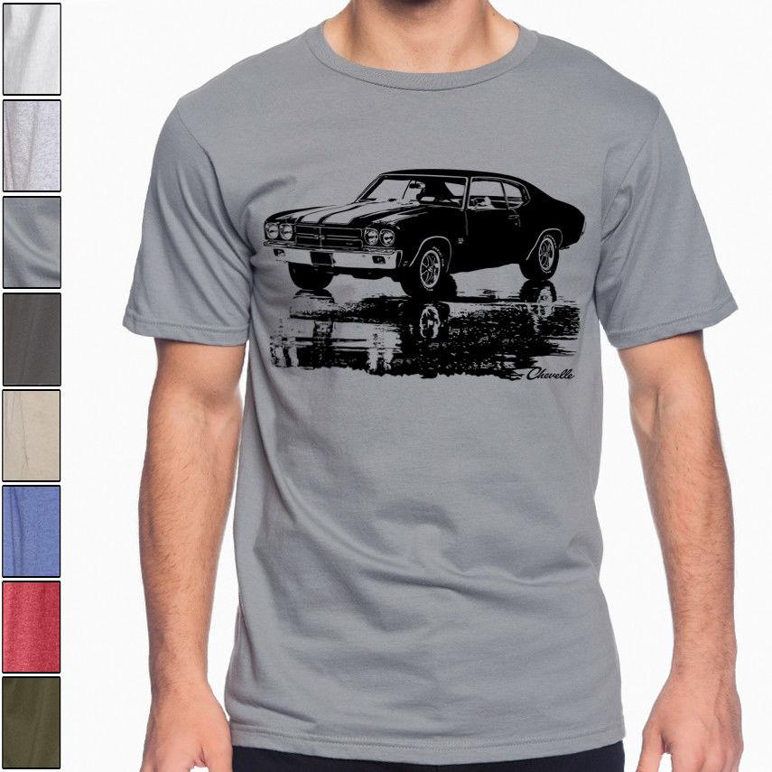 4c7ea749 1970 CHEVY CHEVELLE SS Silhouette American Muscle Car Racing Soft Cotton T  Shirt Funny Unisex Casual Tee Top Awesome Shirt Designs Funny Slogan T  Shirts ...