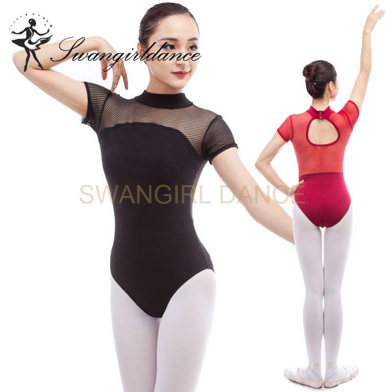 a66c06325964 2019 Ladies Burgundy Mock Turtleneck Dance Training Ballet Leotards  Costumes Lace Back Gymanstic Dancwear CS0306 From Swangirl, $19.0 |  DHgate.Com