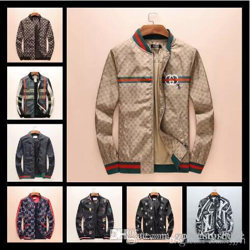5f3c2b6f6 2018 Italy Winter autumn flower tiger print jackets men new luxury brand  windbreakor men high street men sport jacket coats