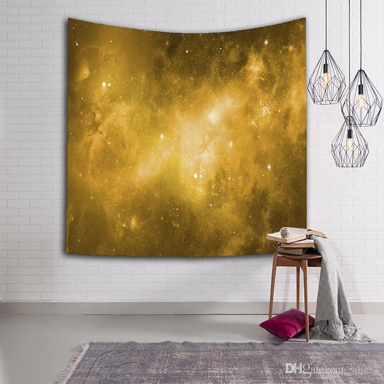 Moda 3D Digital Impreso Playa Toalla Estrella Universo Cielo Estrellado Patrón Tapiz Artístico Fácil de Limpiar Mantón Para Adultos 16lsa B