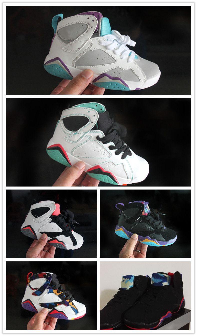 huge selection of 72cf7 51882 Acquista Nike Air Jordan Aj7 Vendita Calda Ragazze 7 Bambini Scarpe Da Basket  Bambini Scarpe Bambini 7s Basket Ball Bambino Toddlers Regalo Di Compleanno  ...