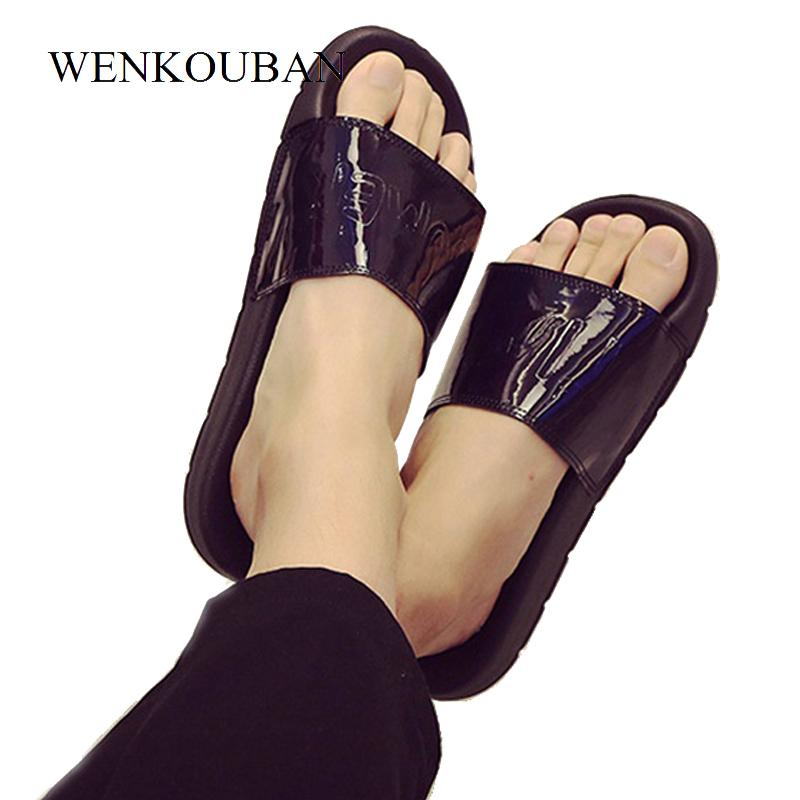 0e316e776f1be8 Summer Women Slippers Female Slides Home House Ladies Flat Sandals Flip  Flops Bling Outdoor Beach Shoes Zapato Mujer Plus Size Winter Boots For  Women Boots ...