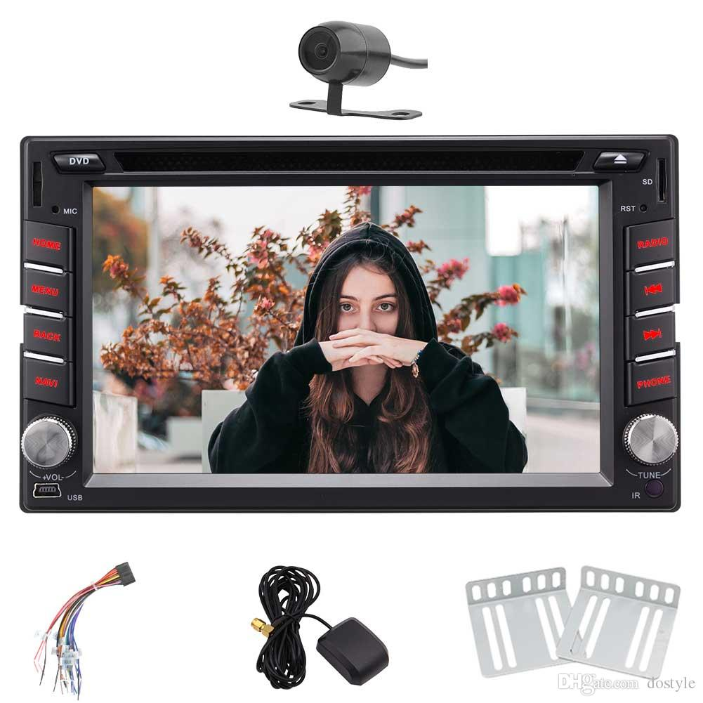 Rear Camera Eincar Android 7.1 Double 2 DIN 6.2''In Dash Car DVD Stereo Headunit Autoradio WIFI Bluetooth Steering Wheel Control Mirroring