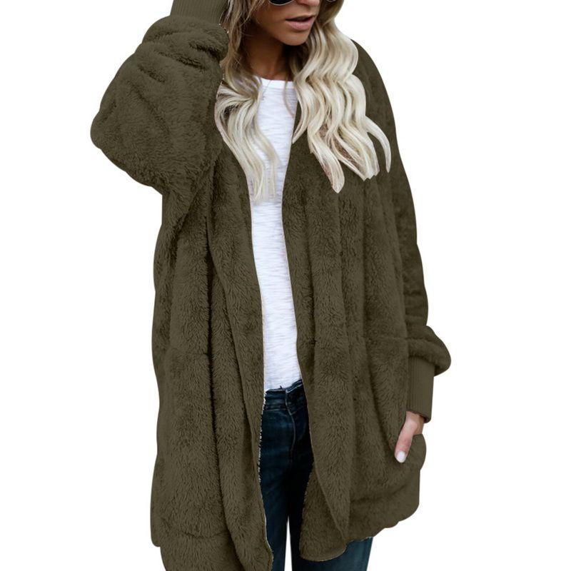 competitive price e22b6 61324 Sconto Giacca Donna Fashion Open Stitch Cappotto invernale con cappuccio  Donna manica lunga sfilata Zipper giacche in lana caldo cappotto di cotone