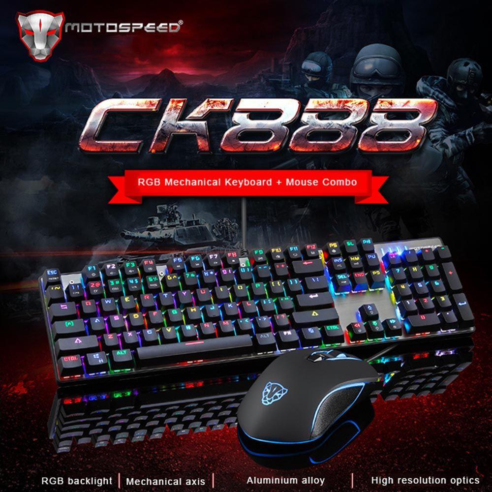 Acheter Motospeed Ck888 Retro Eclairage Gaming Mecanique Clavier