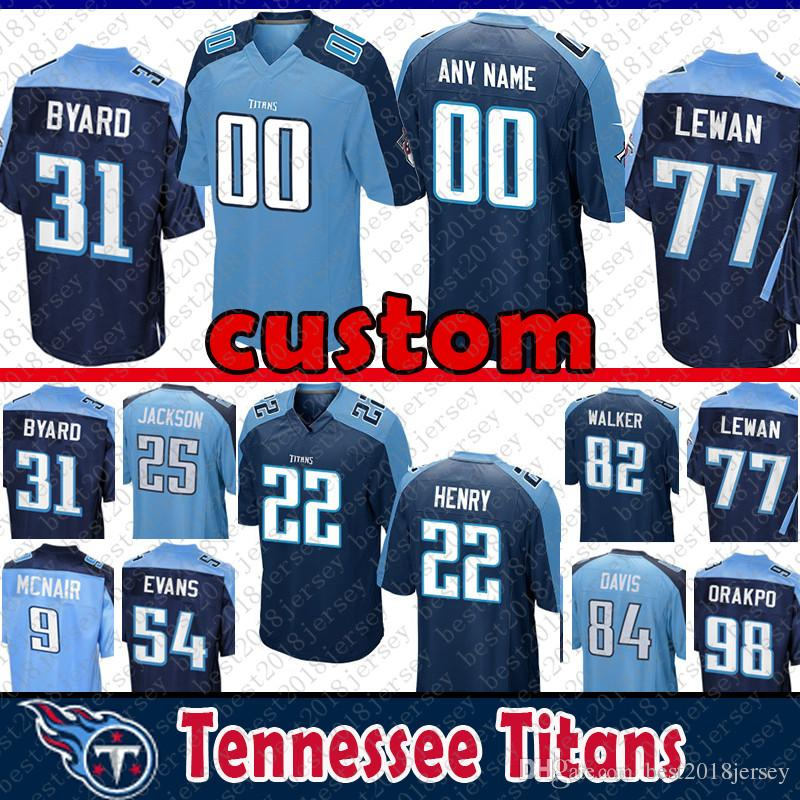 buy online cf1cd 8bb28 18 Rishard Matthews Custom Tennessee jersey Titans 22 Derrick Henry 9 Steve  McNair 98 Brian Orakpo 54 Rashaan Evans Malcolm Butler 33 Lewis