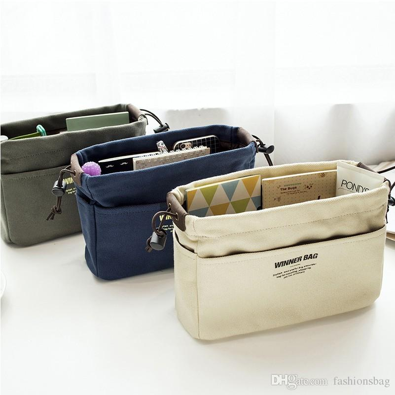 Canvas Purse Organizer Bag Organizer Insert With Compartments Makeup