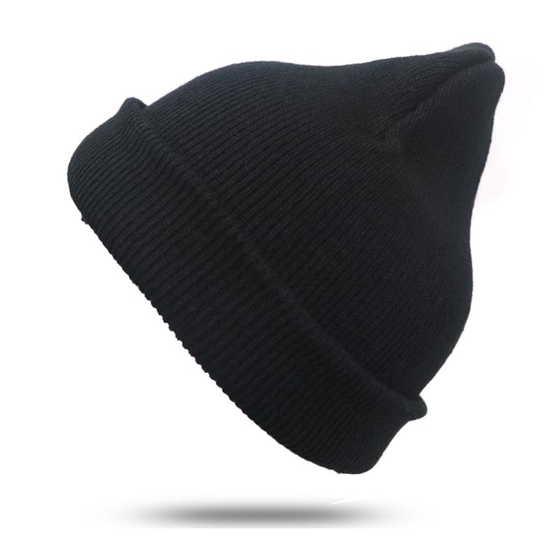 2019 Black Knitted Hat Beanies For Men Women Hats Bonnet Femme Girls Hat  Unisex Beanies Casual Cap Bonnet Femme Skullies From Heheda5 b0a52ae4179