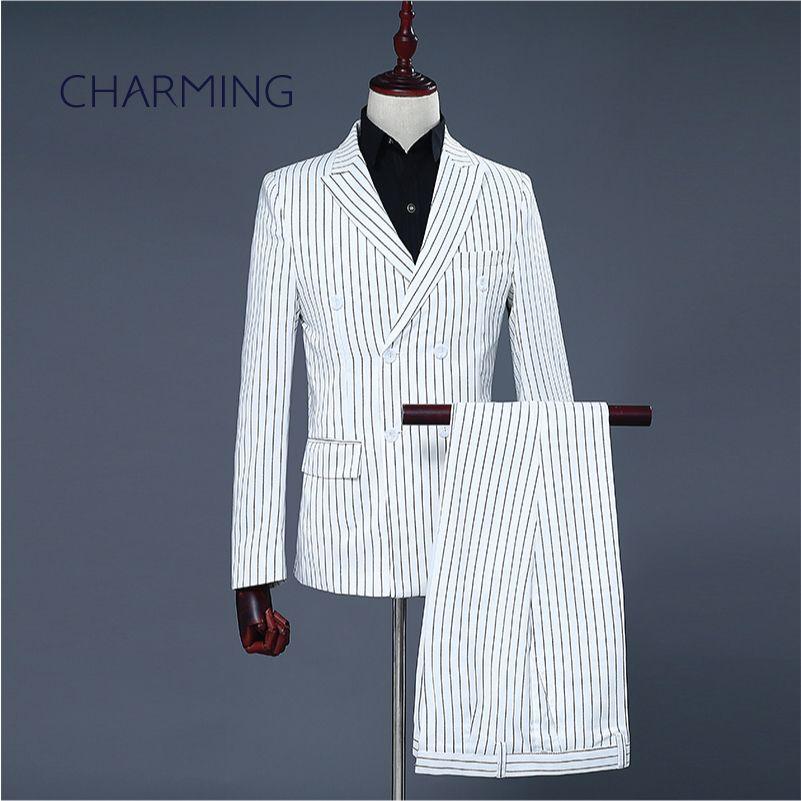 Men's Black Pinstripe Shirt Dress