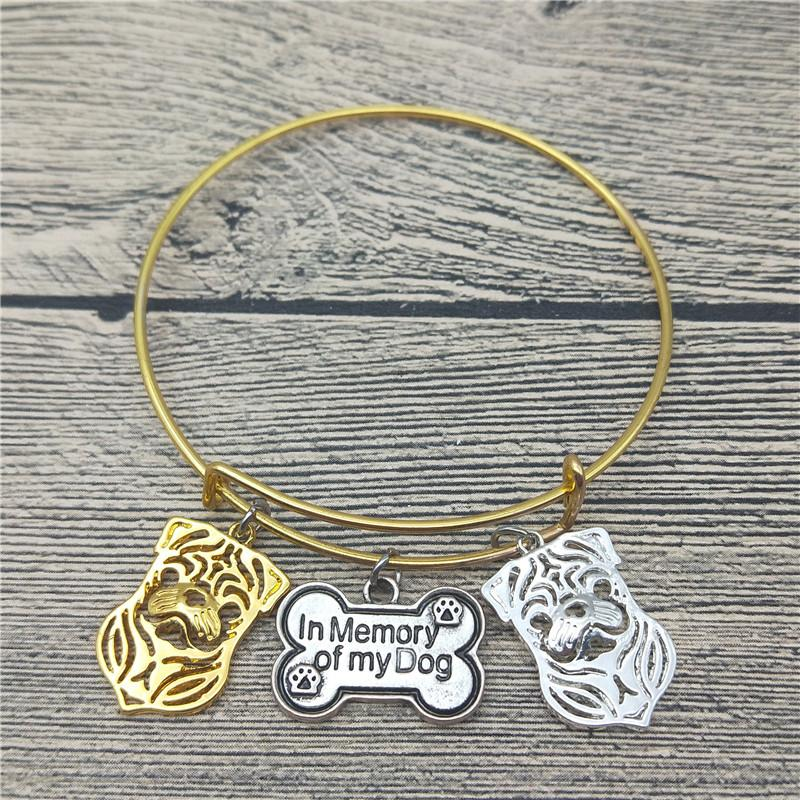 3b2d87ff506f Compre Trendy New Pug Dog Bangles Cute Pug Dog Bangles Pulseras Moda Animal  Pet Jewellery A  33.06 Del Fotiaoqia