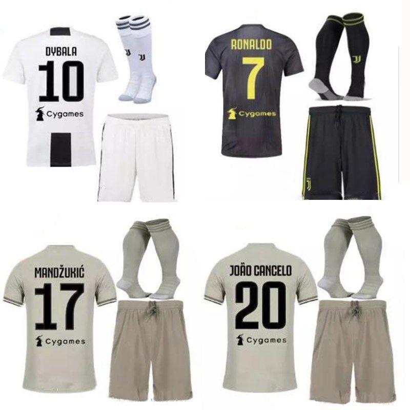 b64468c5ab6 18 19 Juventus Soccer Jersey Kit HIGUAIN Juve Away DYBALA Ronaldo ...