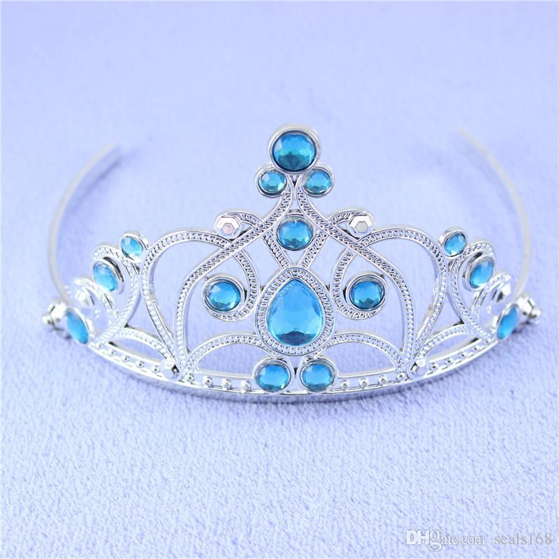Cosplay Princess Crown Set Tiaras Headwears Magic Wand Gloves Wig Party Dress Up Costume Accessories For Children Kids XMAS HH7-338