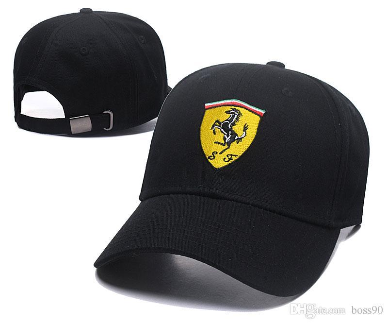 Gorras pai chapéu Bordado F1 Corrida de Algodão Boné de Beisebol Ajustável  Tampão de Golfe Chapéus de carro para as mulheres homens osso de verão  casquette ... f1ffb09a2fb8a