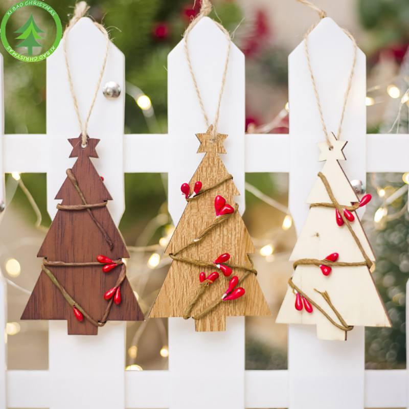 Decorazioni Natalizie Pendenti.Acquista Decorazioni L Albero Di Natale Pendenti In Legno Pendenti