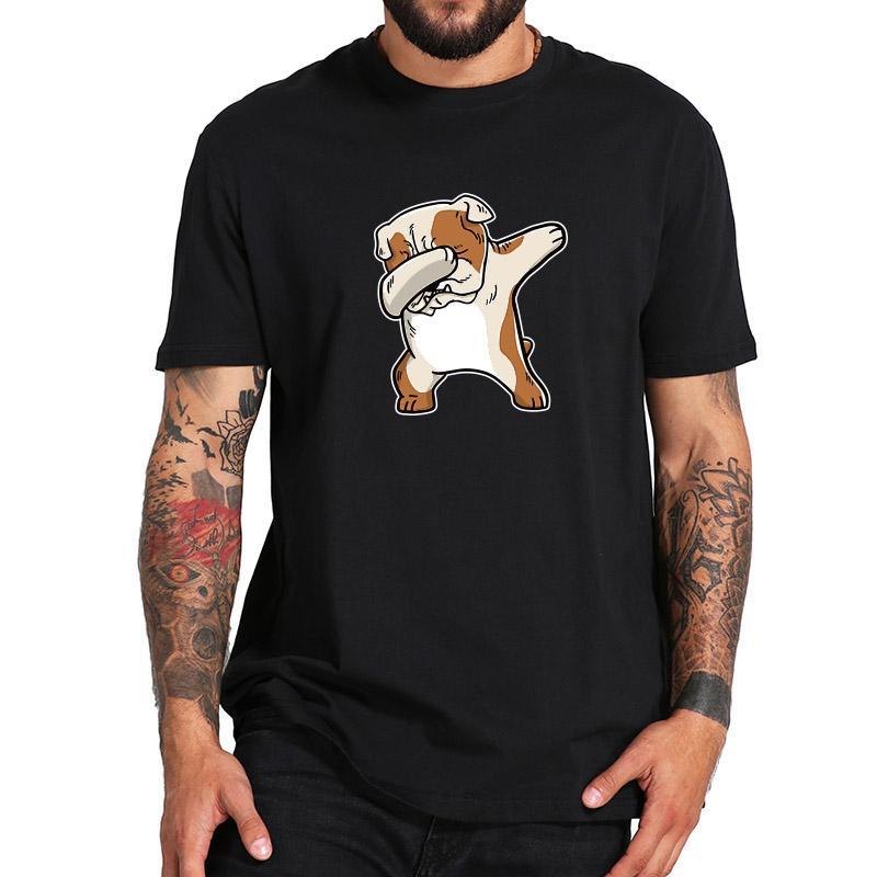 770ee40a English Bulldog Tshirt Summer Men Cotton T Shirt Print Cartoon Soft Casual  Short Sleeve Dabbing Funny T Shirt Us Size Awesome Tee Shirt Designs T  Shirts ...