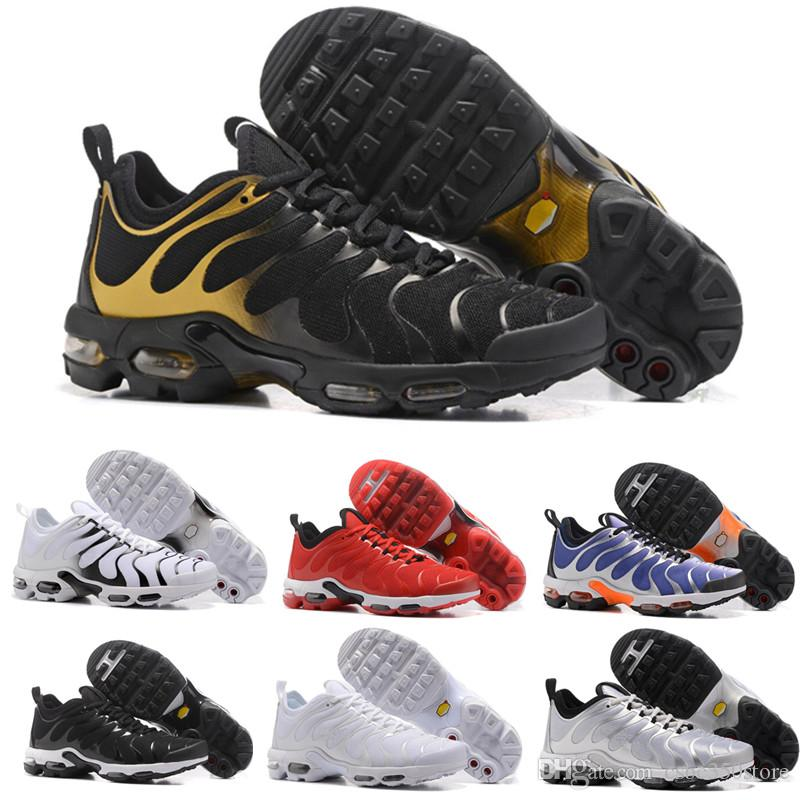 reputable site 7638f 41a4d Compre Nike Tn Plus Air Max Vapormax Tn Plus Vm Oliva En Metalizado Blanco  Plata Colorways Mujeres Zapatillas Para Aire Tn Requin Male Pack Triple  Negro ...