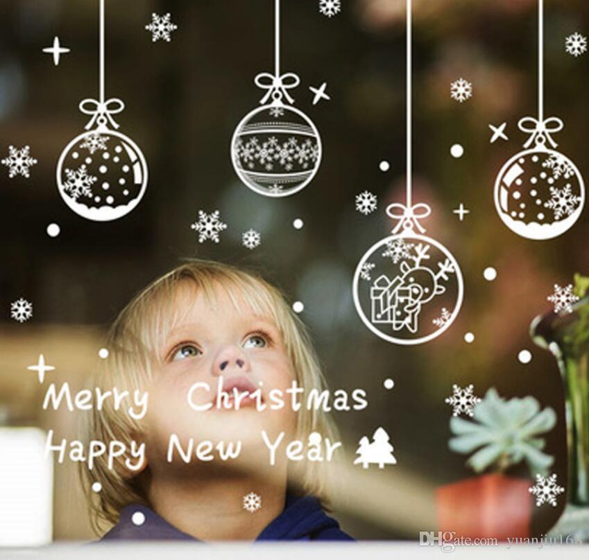 Adesivi Buon Natale.Buon Natale Adesivi Murali Fai Da Te Smontabili Adesivi Per Vetrine Noel Decorazioni Natalizie Per La Casa Natal Decorazione Natalizia Ga540