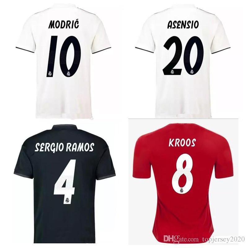 Thai 18 19 Real Madrid Soccer Jerseys MODRIC Football Shirt 2018 ... 3ffd05c9d2cf8