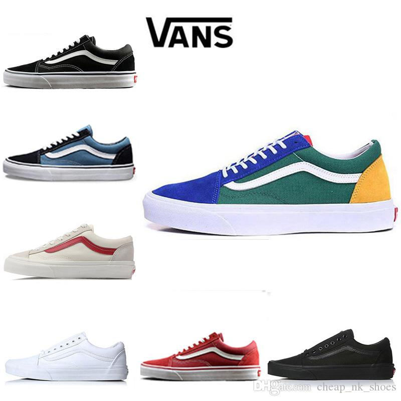 f116803c1039f Designer Vans Old Skool Men Women Casual Shoes Running Shoes Yacht Club  White Black Sneaker Trainer Canvas Sports Jogging Outdoor Shoe 36 44 Womens  Shoes ...
