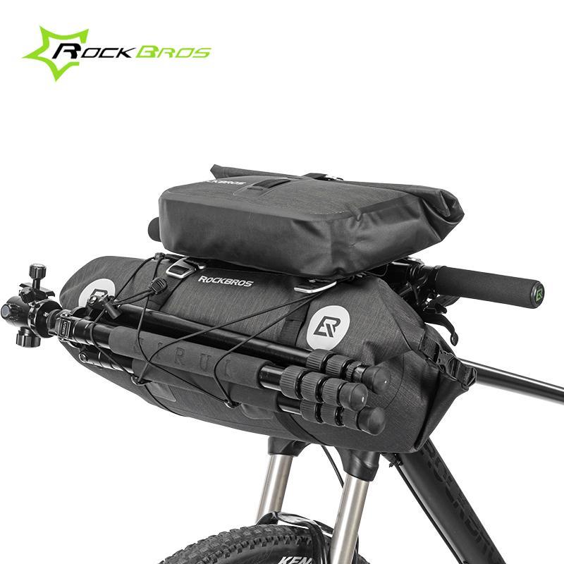 f864351aa9 Rockbros Waterproof Bicycle Bike Front Frame Bag Basket Pannier Large  Capacity Handlebar Bag Cycling Pack Bicycle Accessories Waterproof Pannier  Backpack ...