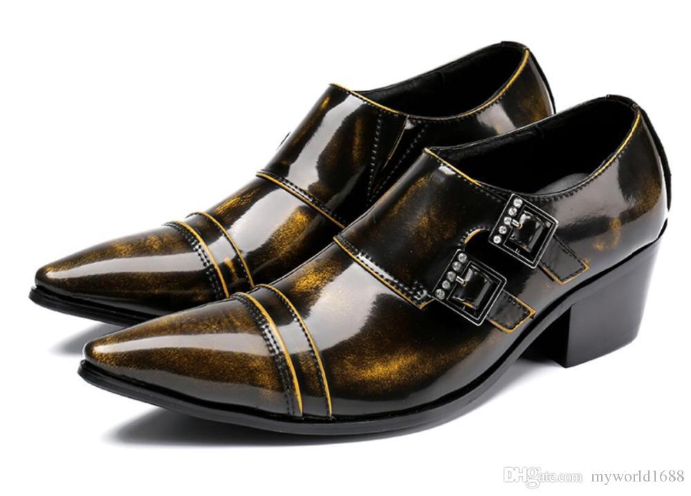 e2ad09d18 Compre Primavera 2018 Retro Homens De Negócios Sapatos De Moda Homem De  Couro Genuíno Sapatos De Casamento Sapatos De Sapato Social Sapato Masculino  Tamanho ...