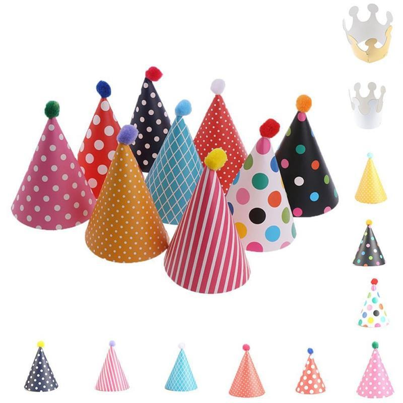 Birthday Cap Party Decorations Kids Hats Accessories Funny Crown Baby Shower Favor Photo Booth Event Supplies 50th A Hat